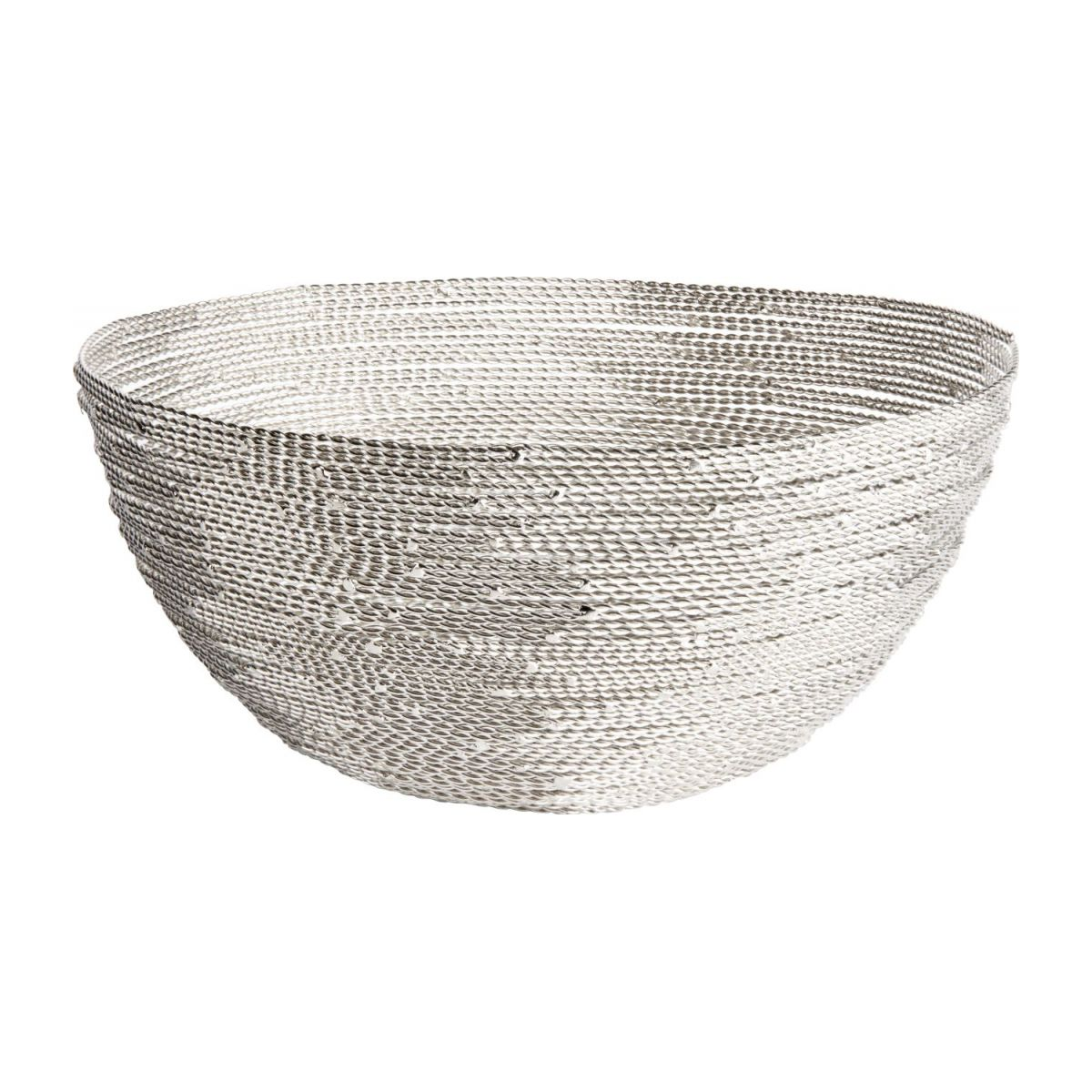 Small nickel twisted wire bowl n°1