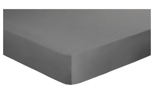 Fitted sheet 160 x 200 cm, grey