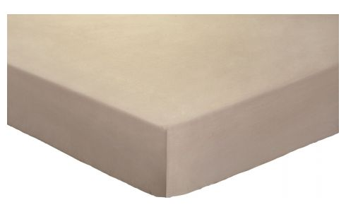 Fitted sheet 140 x 200 cm, taupe