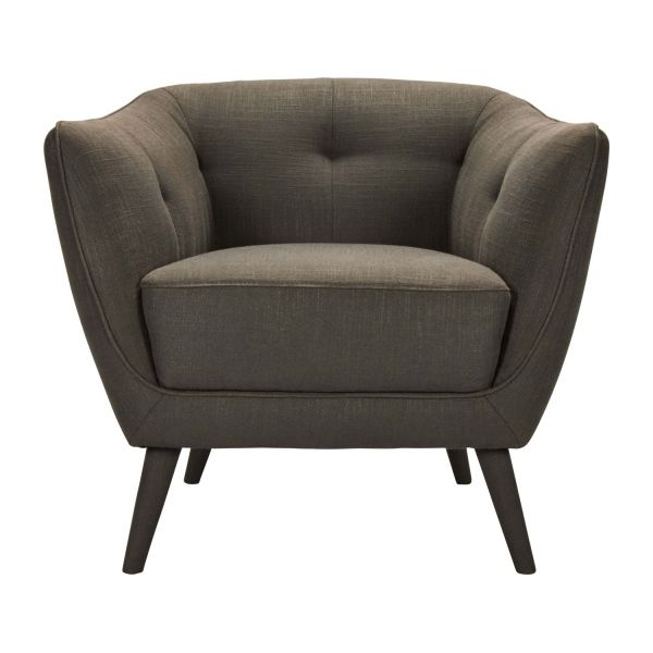 drake fauteuils fauteuil gris fonc tissu habitat. Black Bedroom Furniture Sets. Home Design Ideas