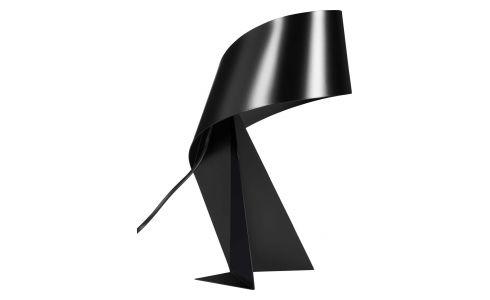 Large black table lamp