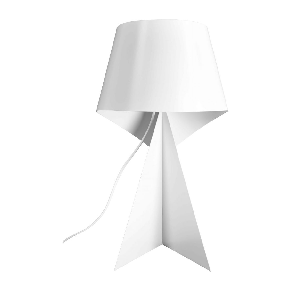 Lampe de table en métal - Blanc - 52 cm n°2