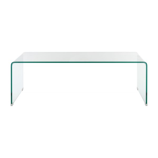Gala table d 39 appoint en verre tremp habitat - Table basse en verre courbe ...