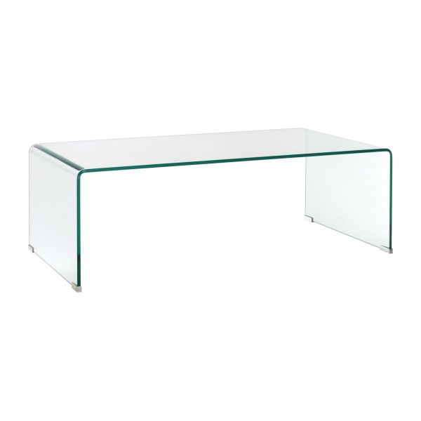 Gala table d 39 appoint en verre tremp habitat - Table de chevet en verre ...