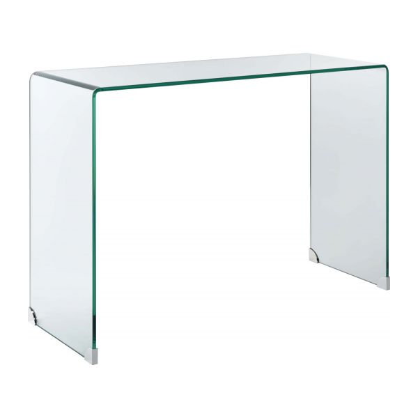 gala tempered glass console table habitat