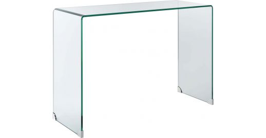 Gala curved glass console table habitat - Table console extensible habitat ...