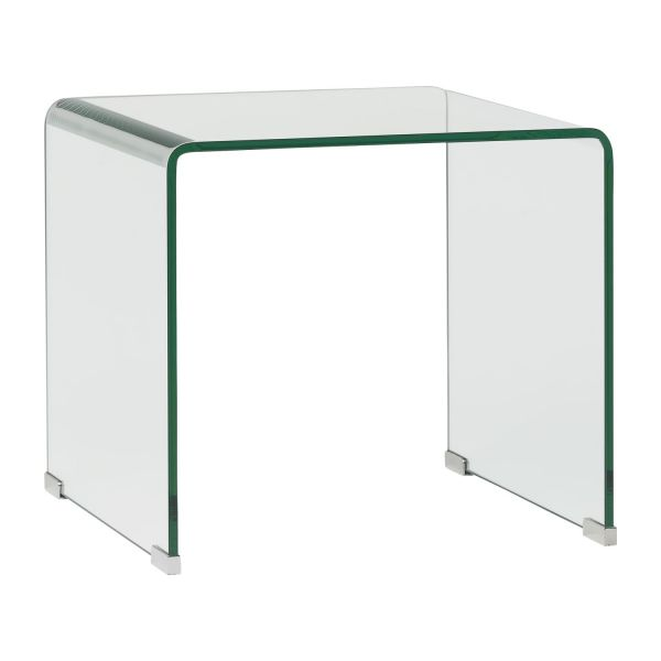 Exceptional Curved Glass Side Table N°1