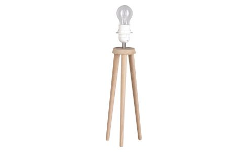 Wooden lamp foot
