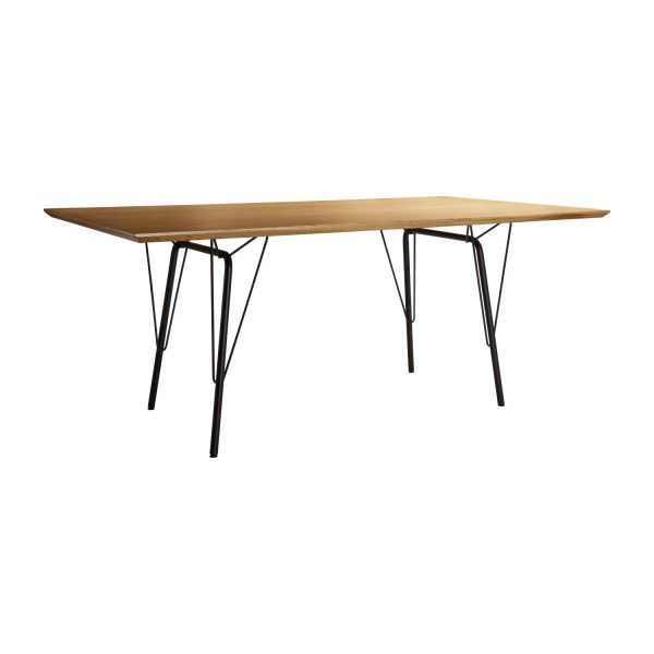 El tables de cuisine naturel bois habitat for Table salle manger habitat