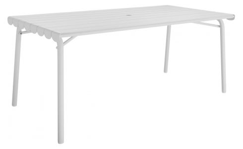 Grande table de jardin en aluminium
