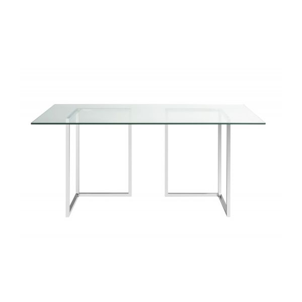 Lagon plateau de table en verre 180x80cm habitat for Plateau en verre pour table
