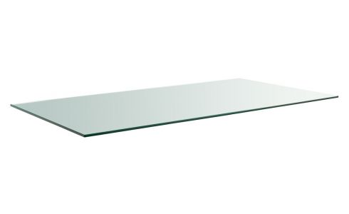 Transparent glass tray