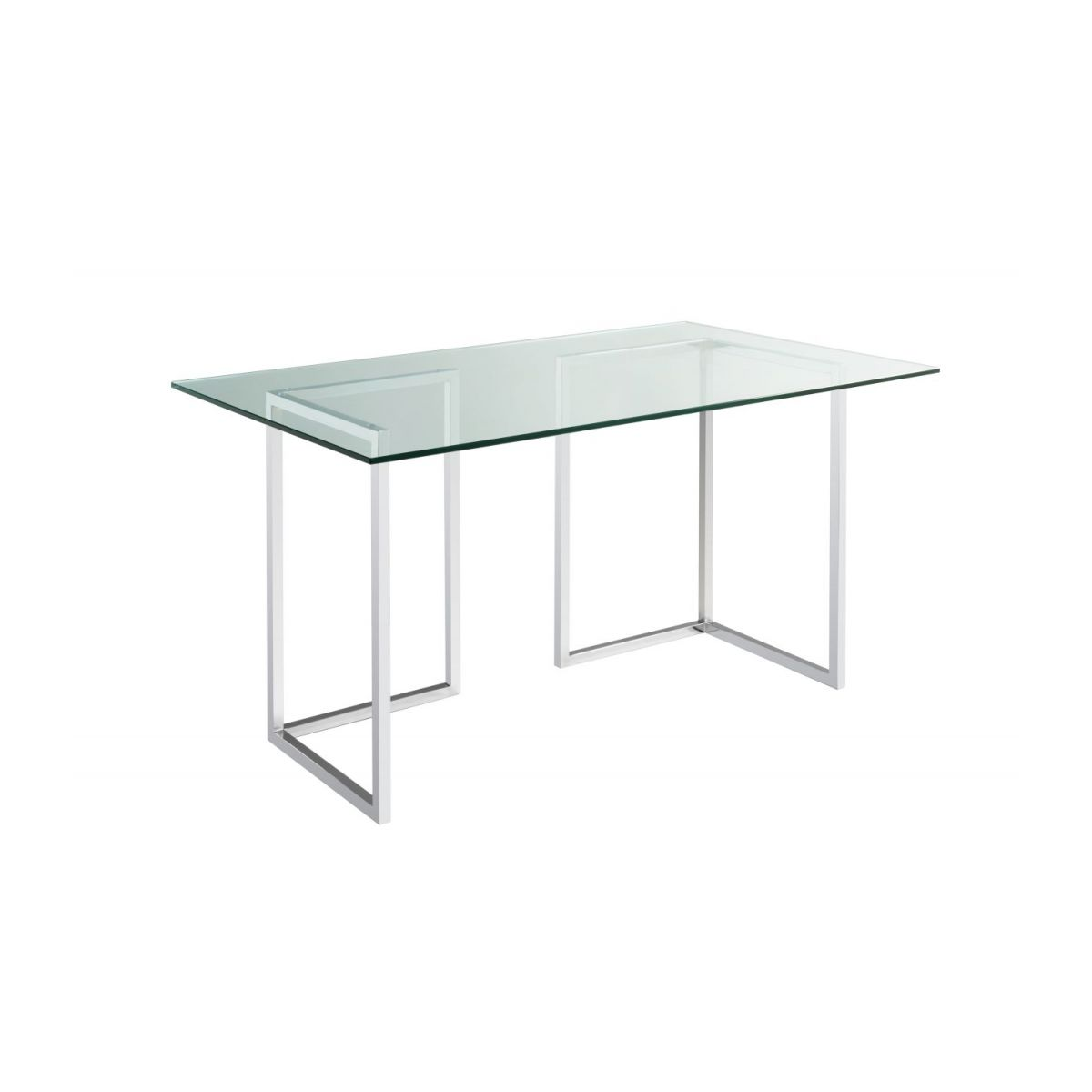 Plateau de table en verre 140x80 cm n°1