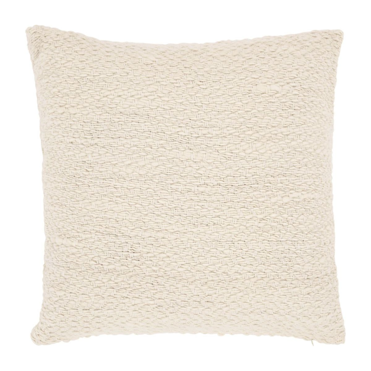 Coussin  tricot naturel 50 x 50 n°2