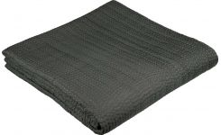 SILK QUILT/ BEDSPREAD CHARCOAL