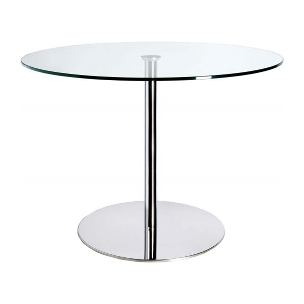 Courb courb dining table hdr habitat - Table de salle a manger en verre ...