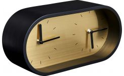 EFFY/ WALL CLOCK BLACK/GOLD