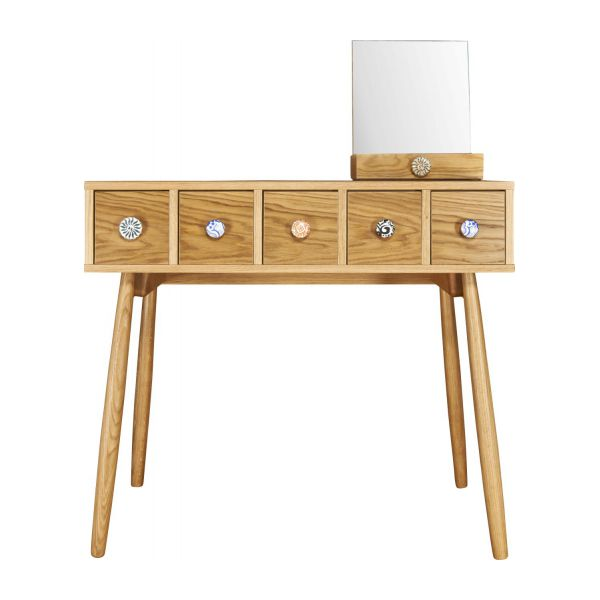 Mirrored 5 drawer dressing table n°5