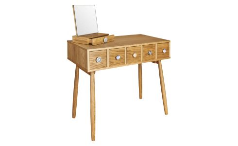 Mirrored 5 drawer dressing table