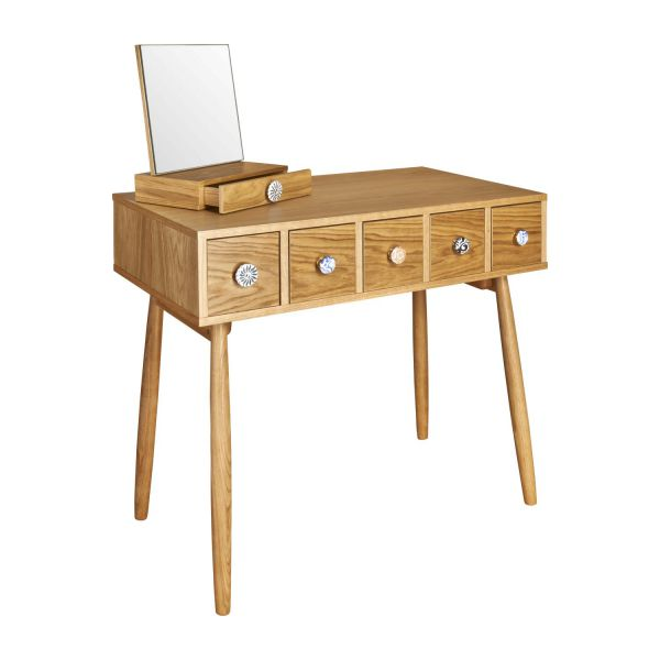 Mirrored 5 drawer dressing table n°1