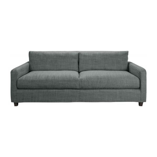Chester canap s canap 3 places gris tissu habitat for Salon 7 places en tissu