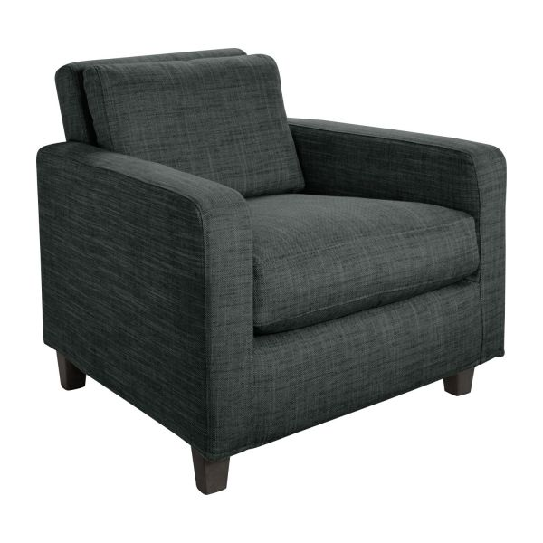 chester fauteuils fauteuil gris fonc tissu habitat. Black Bedroom Furniture Sets. Home Design Ideas