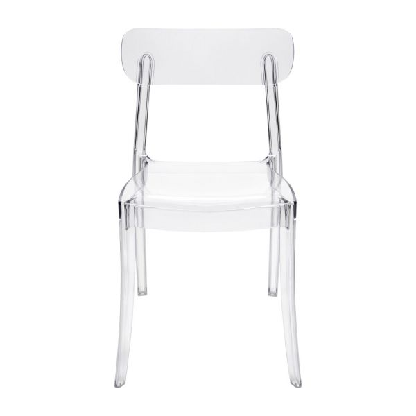 Giovanni chaise transparente en plastique habitat for Chaise transparente habitat
