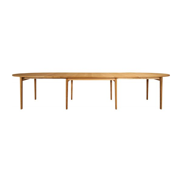 ega grande table de salle manger rallonges en ch ne massif huil habitat. Black Bedroom Furniture Sets. Home Design Ideas