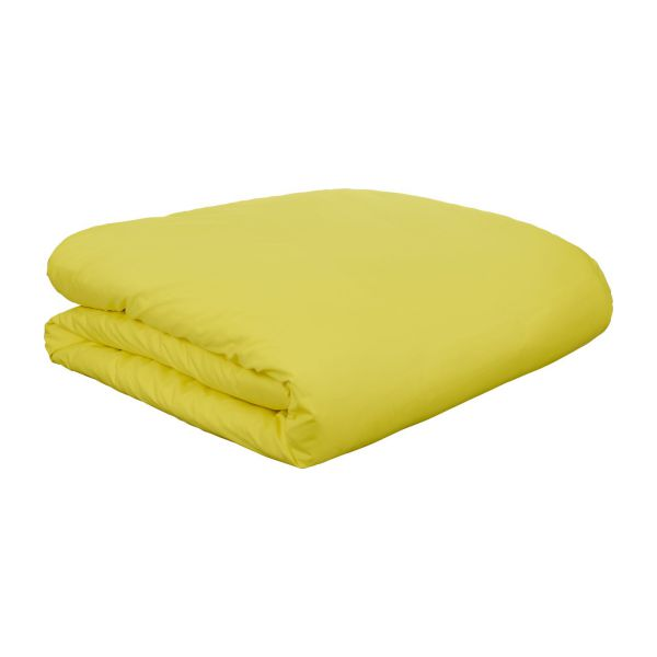 percale ii housse de couette 140x200 jaune habitat. Black Bedroom Furniture Sets. Home Design Ideas