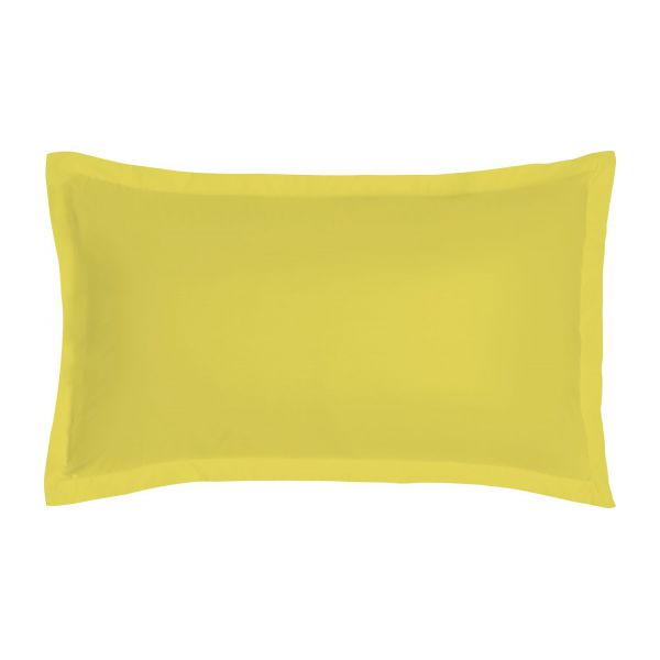 percale ii taie d 39 oreiller 50x80 jaune habitat. Black Bedroom Furniture Sets. Home Design Ideas