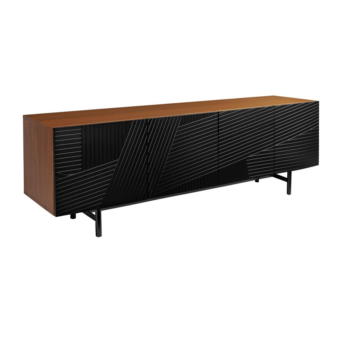 Low walnut sideboard n°1