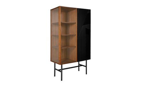 ESKYSS/ GLASS STORAGE WALNUT H