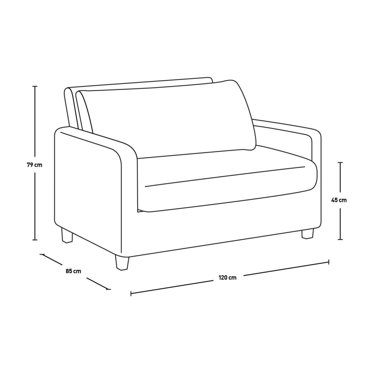 Compact leather sofa n°7