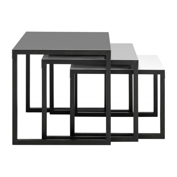kilo tables d 39 appoint gris bois m tal habitat. Black Bedroom Furniture Sets. Home Design Ideas
