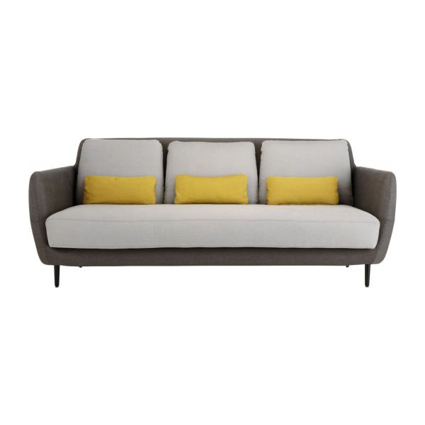 ella sofas 3 seat sofa mouse grey fabric habitat. Black Bedroom Furniture Sets. Home Design Ideas