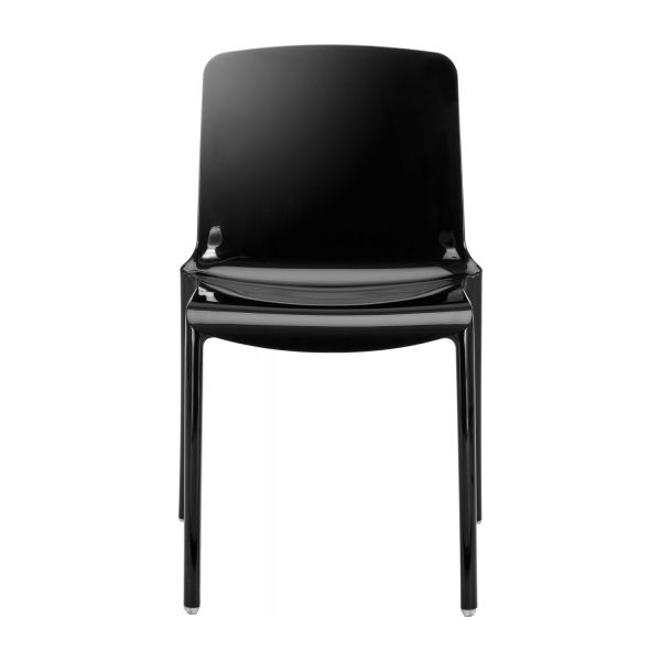 Tallow dining room chairs black plastic habitat for Chaise salle a manger ecru