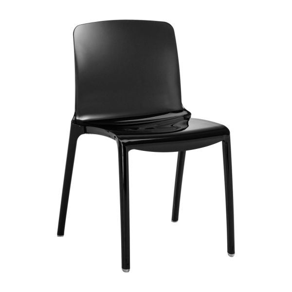 Tallow dining room chairs black plastic habitat for Chaise salle a manger noir