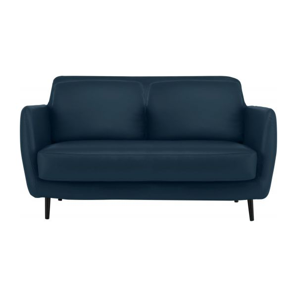 ELLA Sofas 2 seat sofa Petrol blue Leather Habitat