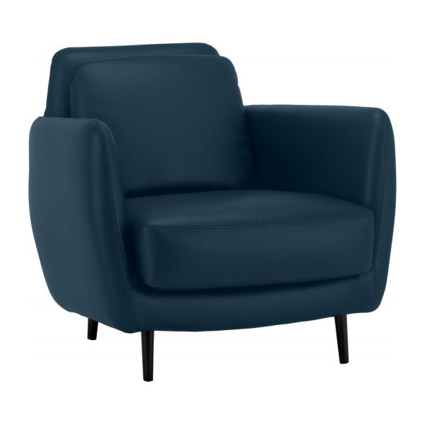 ella fauteuils fauteuil bleu p trole cuir habitat. Black Bedroom Furniture Sets. Home Design Ideas