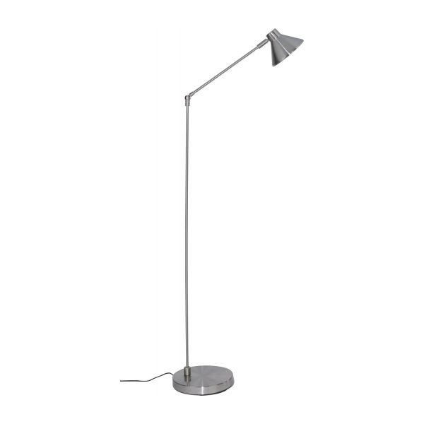 polished metal floor lamp n°4