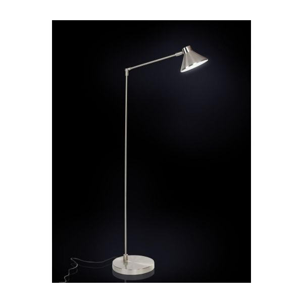 polished metal floor lamp n°2