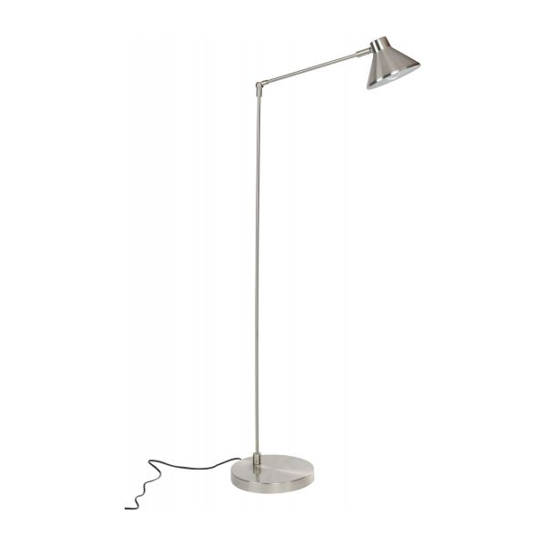 polished metal floor lamp n°1