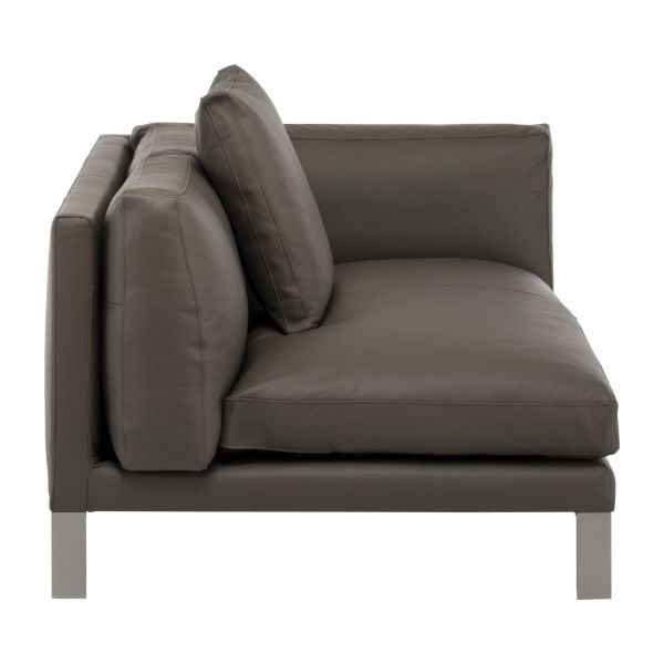 newman canap s canap 2 places gris cuir habitat. Black Bedroom Furniture Sets. Home Design Ideas