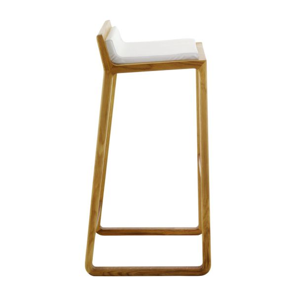 solid oak and leather bar stool n3 - White Leather Bar Stools