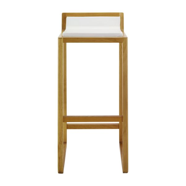 Solid Oak And Leather Bar Stool N 2