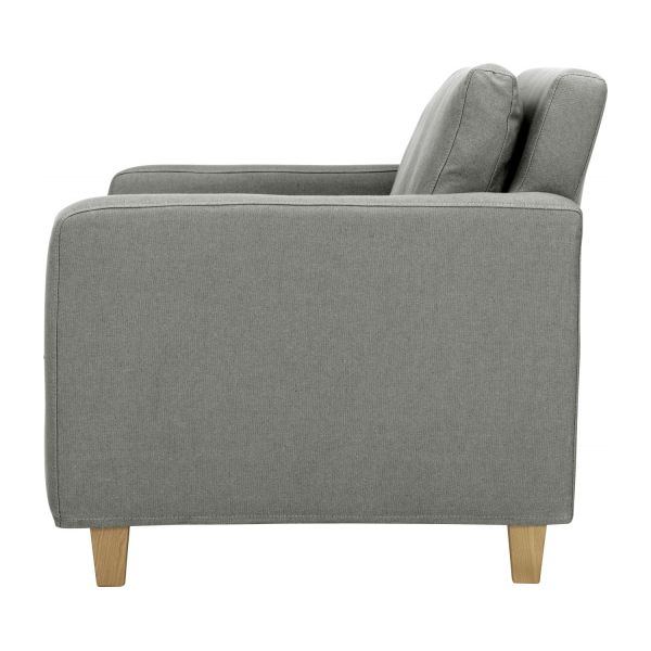 CHESTER Sofas Compact sofa Mouse grey Fabric - Habitat