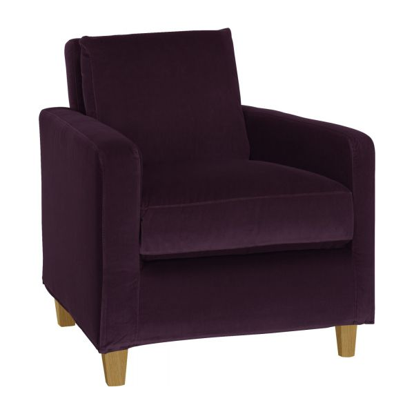 chester fauteuils fauteuil aubergine velours habitat. Black Bedroom Furniture Sets. Home Design Ideas