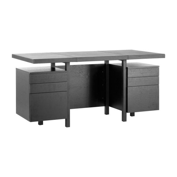 kadloo bureau en ch ne et cuir habitat. Black Bedroom Furniture Sets. Home Design Ideas