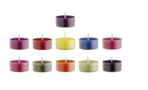 Velas calientaplatos multicolor 30 unidades