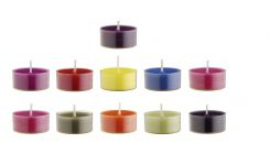 velas calientaplatos multicolor x30